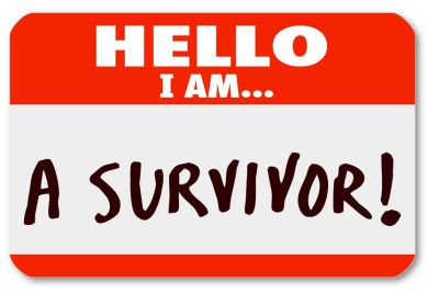Image credit: <a href='http://www.123rf.com/photo_18083888_the-words-hello-i-am-a-survivor-on-a-nametag-sticker-to-symbolize-your-perseverance-or-dedication-to.html'>iqoncept / 123RF Stock Photo</a>