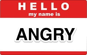 Angry Name Label