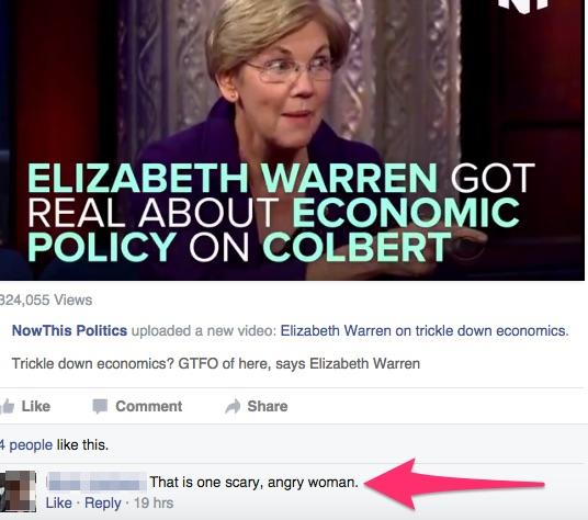 Elizabeth Warren Angry